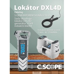 Zvýhodněný set lokátoru C.Scope DXL 4D a generátoru SGV 4