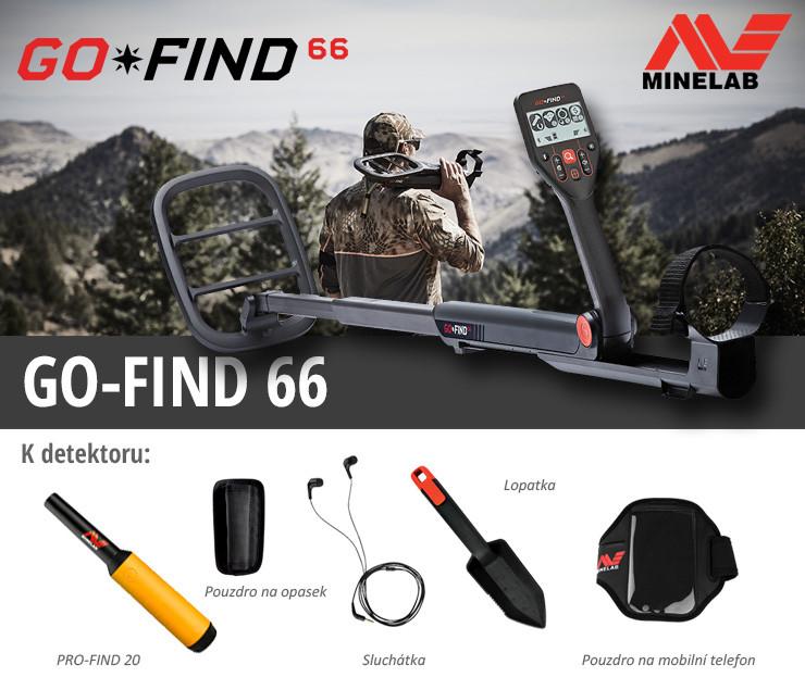 Novinka !!!!!! Detektor kovů Minelab Go Find 66